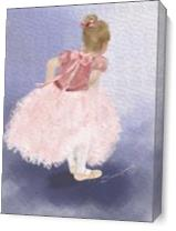 Child Ballerina Awaiting The Moment_by Susan Lipschutz As Canvas