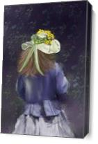 Girl In Blue_by Susan Lipschutz As Canvas