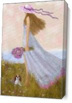 GIRL AND A SUMMER BREEZE_by Susan Lipschutz As Canvas