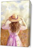 GIRL IN A STRAW HAT_by Susan Lipschutz As Canvas