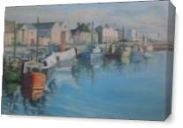 Harbour At Dusk As Canvas