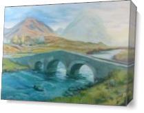 Isle Of Skye Bridge As Canvas