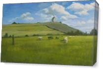 Mill On Yonder Hill Of Holland As Canvas