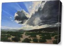 Sun Break Ridge As Canvas