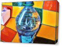 A Bottle Distorted As Canvas