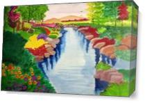 Heidi Spring Scenery. As Canvas