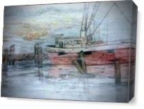 Shrimp Boat As Canvas
