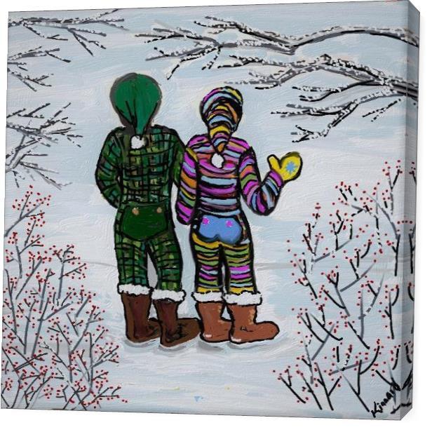 Walking In Our Winter Underwear