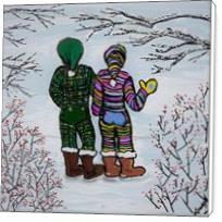 Walking In Our Winter Underwear - Standard Wrap