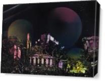 Purple Temple As Canvas