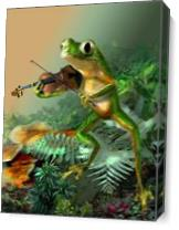 A Frog Fiddle Player As Canvas