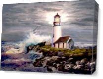 Cape Blanco Lighthouse Oregon Coast As Canvas