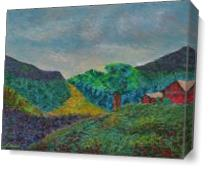 Mountaintop View As Canvas