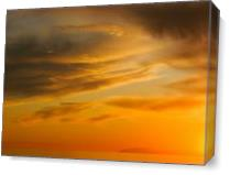 Golden Sunset At C As Canvas
