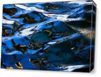 Reflections In Blue As Canvas