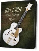 Gretsch  White Falcon 1957 As Canvas