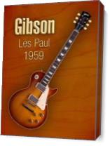 Vintage Gibson Les Paul 1959 As Canvas