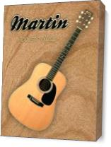 Wonderful Martin Acoustic Guitar As Canvas
