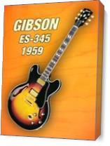 Gibson-es-345 1959 As Canvas