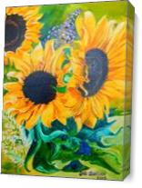 Sunflowers In Virginia As Canvas