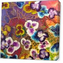 Multicolored Pansies As Canvas