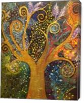 A Tree Of Life with Spirals - Gallery Wrap