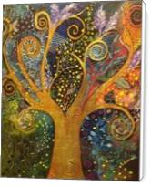 A Tree Of Life with Spirals - Standard Wrap