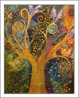 A Tree Of Life with Spirals - No-Wrap