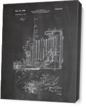 Vintage Camera Patent Chalk As Canvas