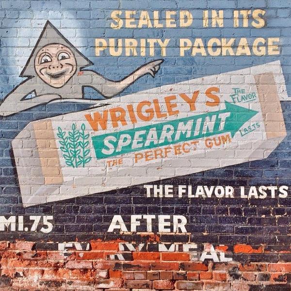 Vintage Wriggles Spearmint Gum Ad