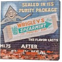 Vintage Wriggles Spearmint Gum Ad - Gallery Wrap