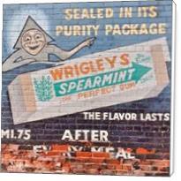 Vintage Wriggles Spearmint Gum Ad - Standard Wrap