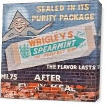 Vintage Wriggles Spearmint Gum Ad As Canvas