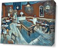 Le Cafe De Nuit The Night Cafe View2 As Canvas