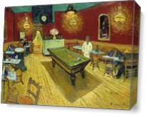 Le Cafe De Nuit By Vincent Van Gogh As Canvas