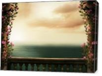 Looking Out At Sea - Gallery Wrap