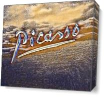 Picasso's Signature1 As Canvas