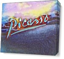 Picasso's Signature3 As Canvas