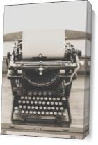 Remington Standard 10 Typewriter As Canvas