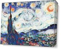 The Starry Night View 2 As Canvas