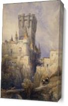 Travelers To The Castle As Canvas