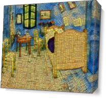 Van Gogh's Bedroom 2 As Canvas
