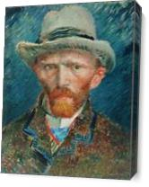Van Gogh's Self Portrait As Canvas