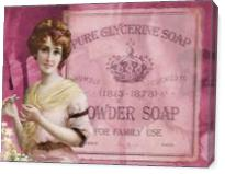 Vintage Beauty Powder Soap - Gallery Wrap