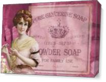 Vintage Beauty Powder Soap As Canvas