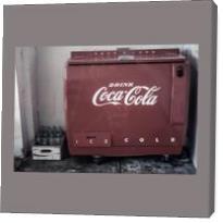 Vintage Coca Cola Cooler - Gallery Wrap