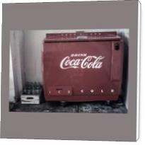 Vintage Coca Cola Cooler - Standard Wrap