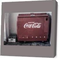 Vintage Coca Cola Cooler As Canvas