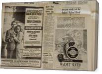 Vintage James Bond Newspaper Advertisement - Gallery Wrap