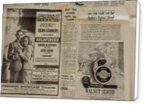 Vintage James Bond Newspaper Advertisement - Standard Wrap